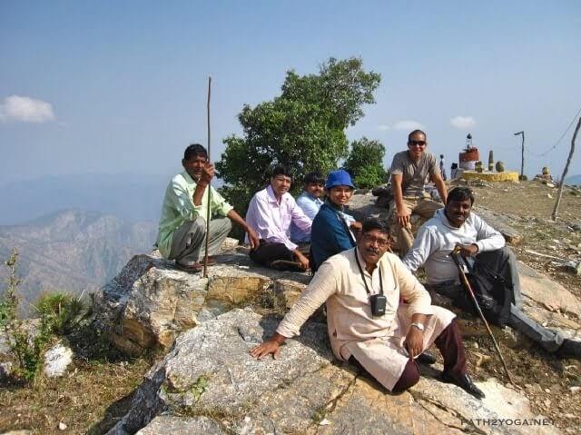 Yogananda devotees visiting Pandavkholi