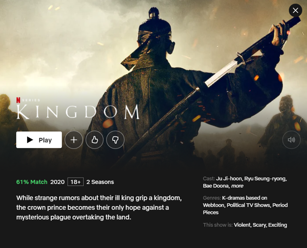 Popular Korean Drama on Netflix Kingdom