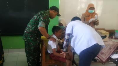 Dukung Program Kesehatan Anak, Babinsa Dampingi Program BIAS