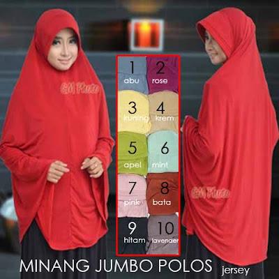 Grosir Jilbab Jumbo Minang Polos