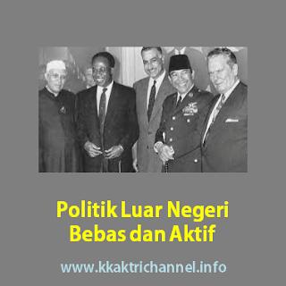 Politik Luar Negeri Indonesia Bersifat Bebas dan Aktif Artinya