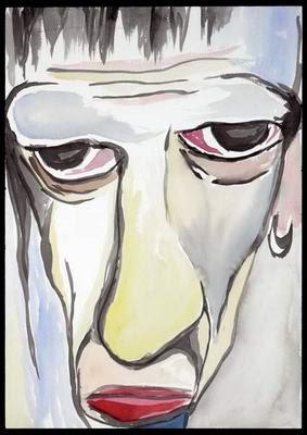 Oedepus, pintura de Marilyn Manson.