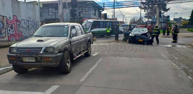 Colisión vehícular en Osorno