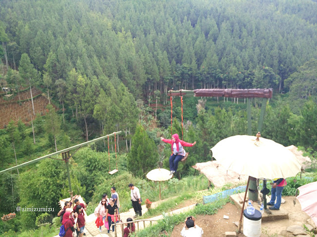 mountaint swing The Lodge Maribaya