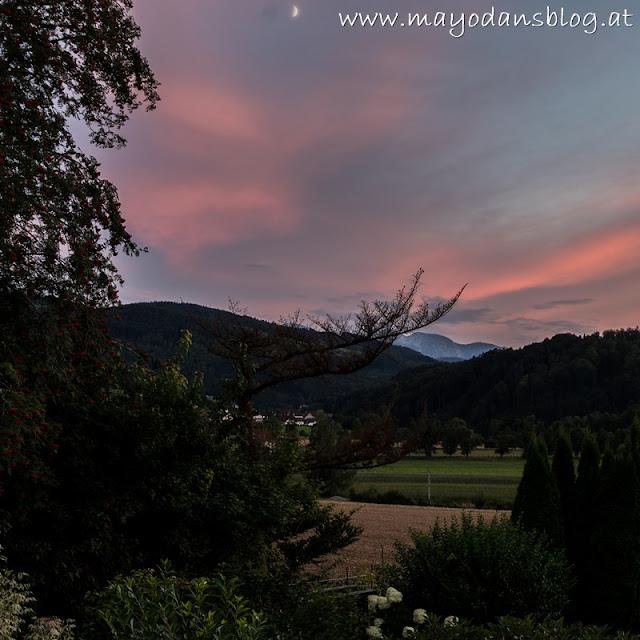 Abendrot im Garten
