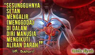 sesungguhnya setan mengalir menggoda di dalam diri manusia mengikuti aliran darah