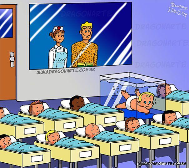 Aquaman's Baby,ابطال خارقون مع أطفالهم