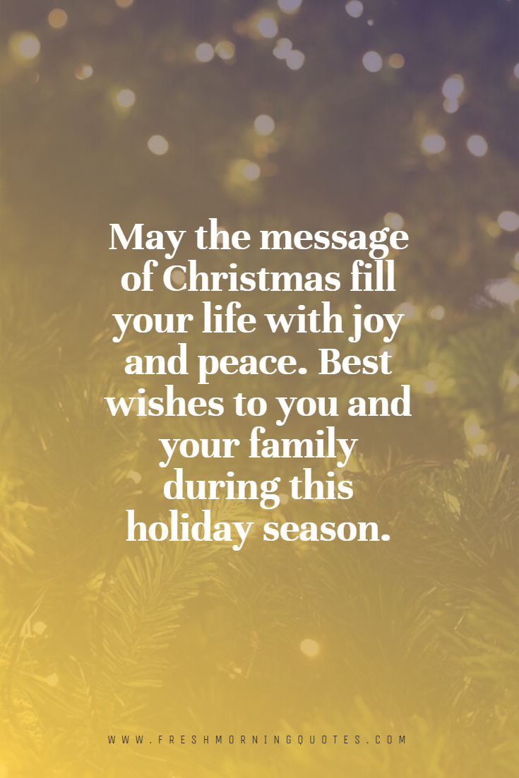 message of christmas