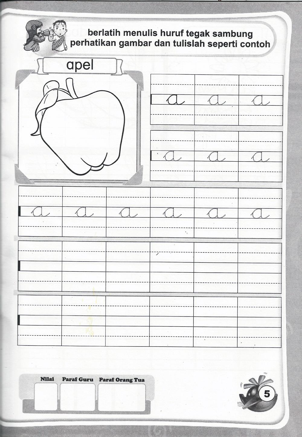 Worksheets Worksheet-menulis-tegak-bersambung belajar menulis tegak bersambung dan berikut merupakan salah satu potret isi buku edit label pelengkap bersambung