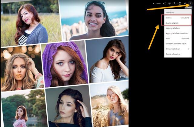collage creato con Google Foto