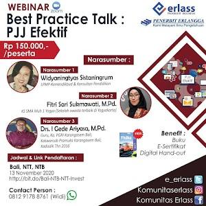 Webinar Best Practice Talk : PJJ Efektif