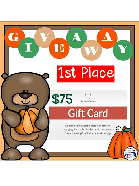 TPT CARD NOVEMBER GIVEAWAY - $75 and $25!!