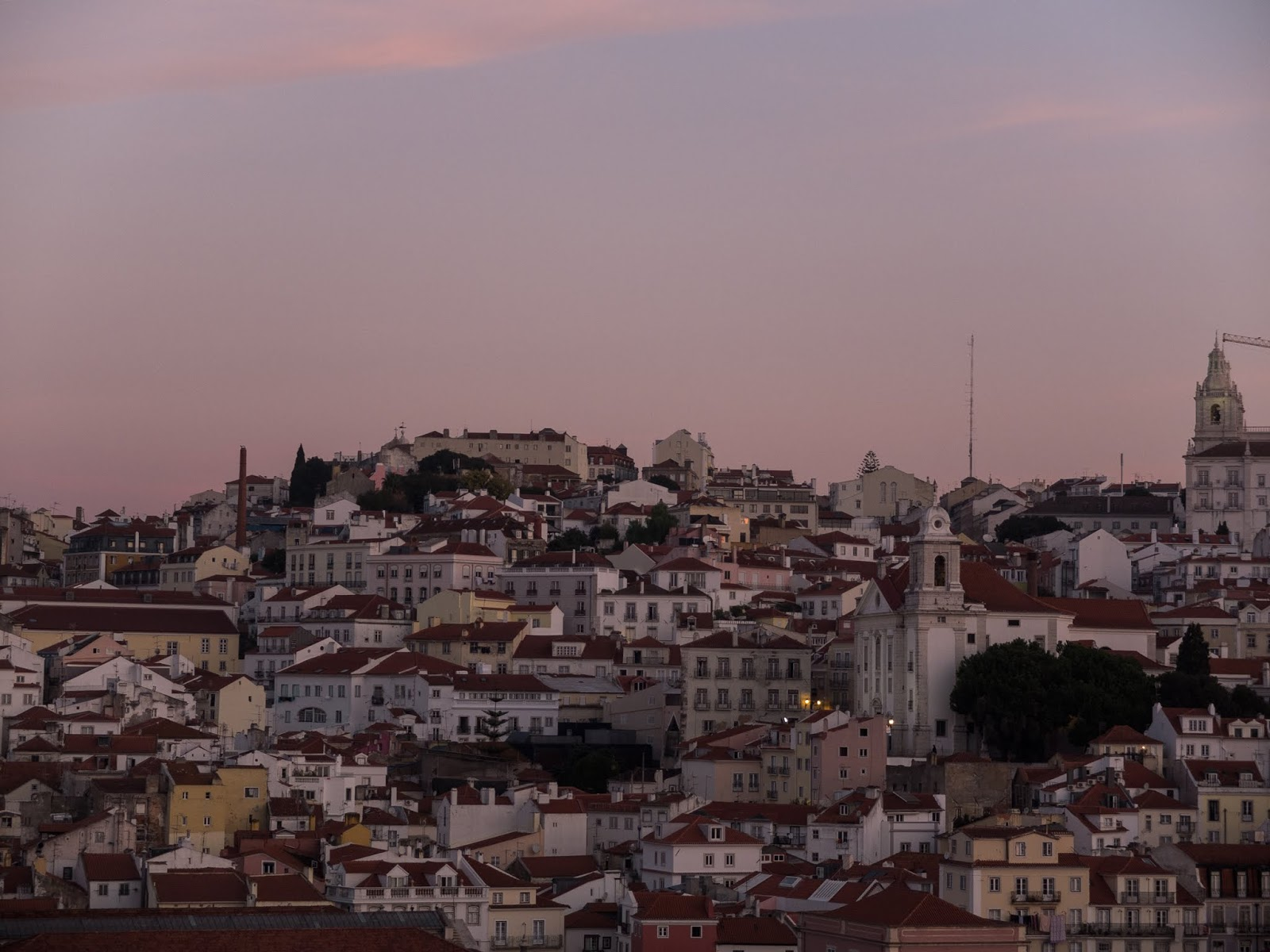 Hillside Lisbon captured from the port at sunrise.
