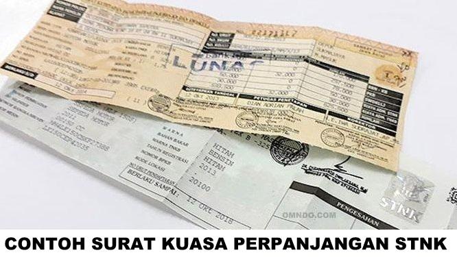 download contoh surat kuasa bayar pajak motor