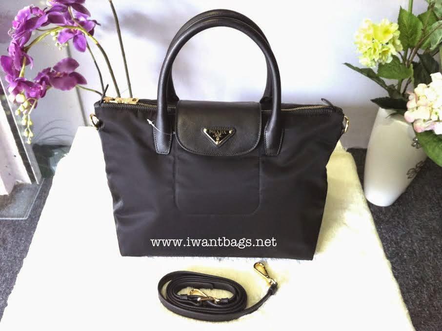 8f246a9869c8 I Want Bags backup: Prada Tessuto Nylon Top Handle 2 Way Tote BN2106 ...