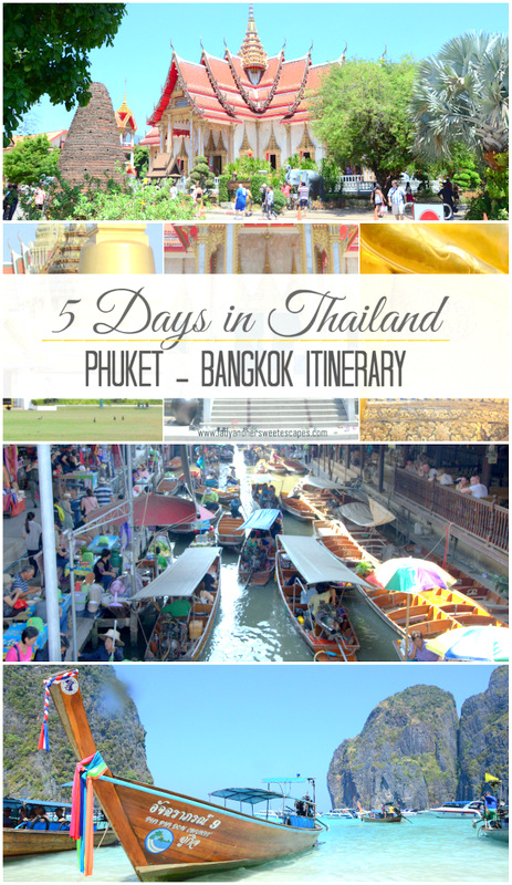 phuket bangkok itinerary pinterest