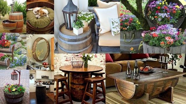 DIY  Κατασκευές από ξύλινα Βαρέλια