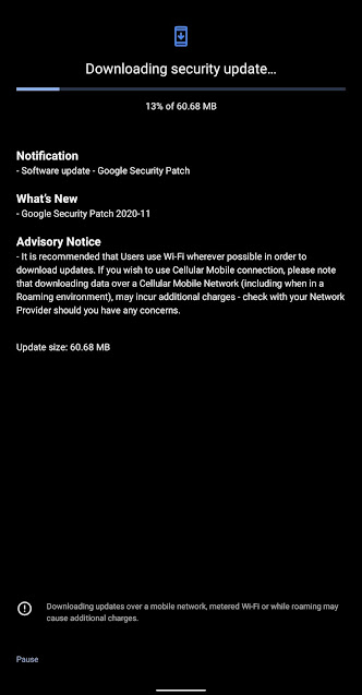 Nokia 5.1 receiving November 2020 Android Security patch