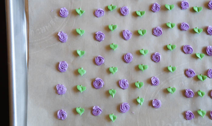 flowers for Easter Bunny Almond Petits Fours