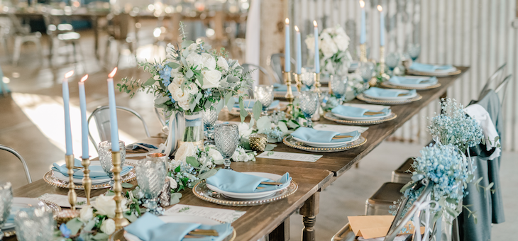 A Must-See Texas Wedding with a Palette of Blue and Green