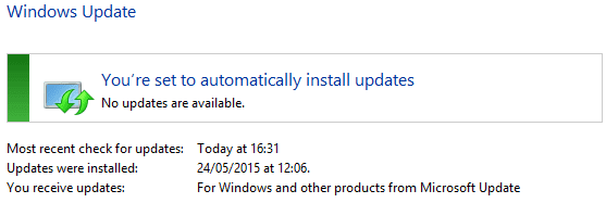 Up to date windows