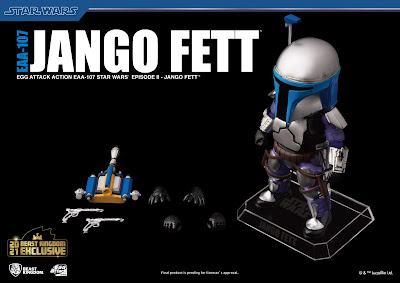 San Diego Comic-Con 2021 Exclusive Star Wars Jango Fet Egg Attack Action Figure by Beast Kingdom