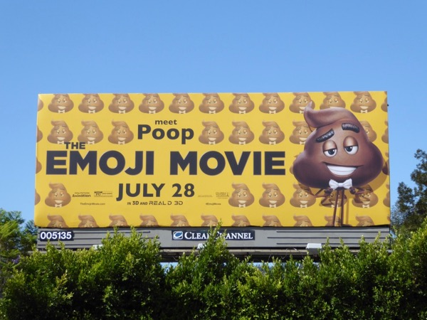 Emoji Movie Meet Poop billboard