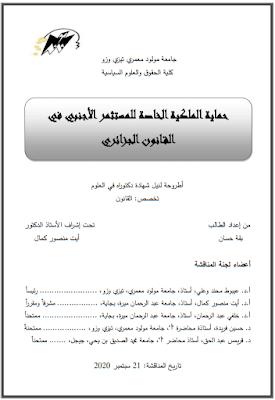 أطروحة دكتوراه: حماية الملكية الخاصة للمستثمر الأجنبي في القانون الجزائري PDF