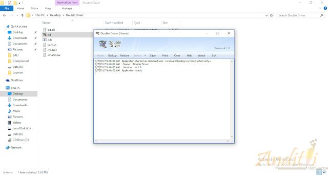 Backup Driver Komputer Menggunakan Double Driver-anditii.web.id