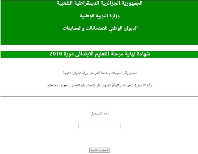 نتائج شهادة التعليم الابتدائي 2018