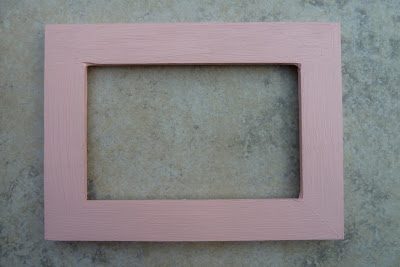 Picture frame painted pink