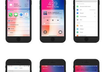 Download iOS 11 iPhone X Theme for any Xiaomi Mi Devices