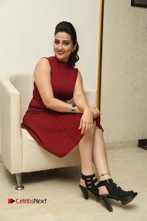 Telugu Tollywood Anchor Manjusha Pos in Red Short Dress  0138.JPG