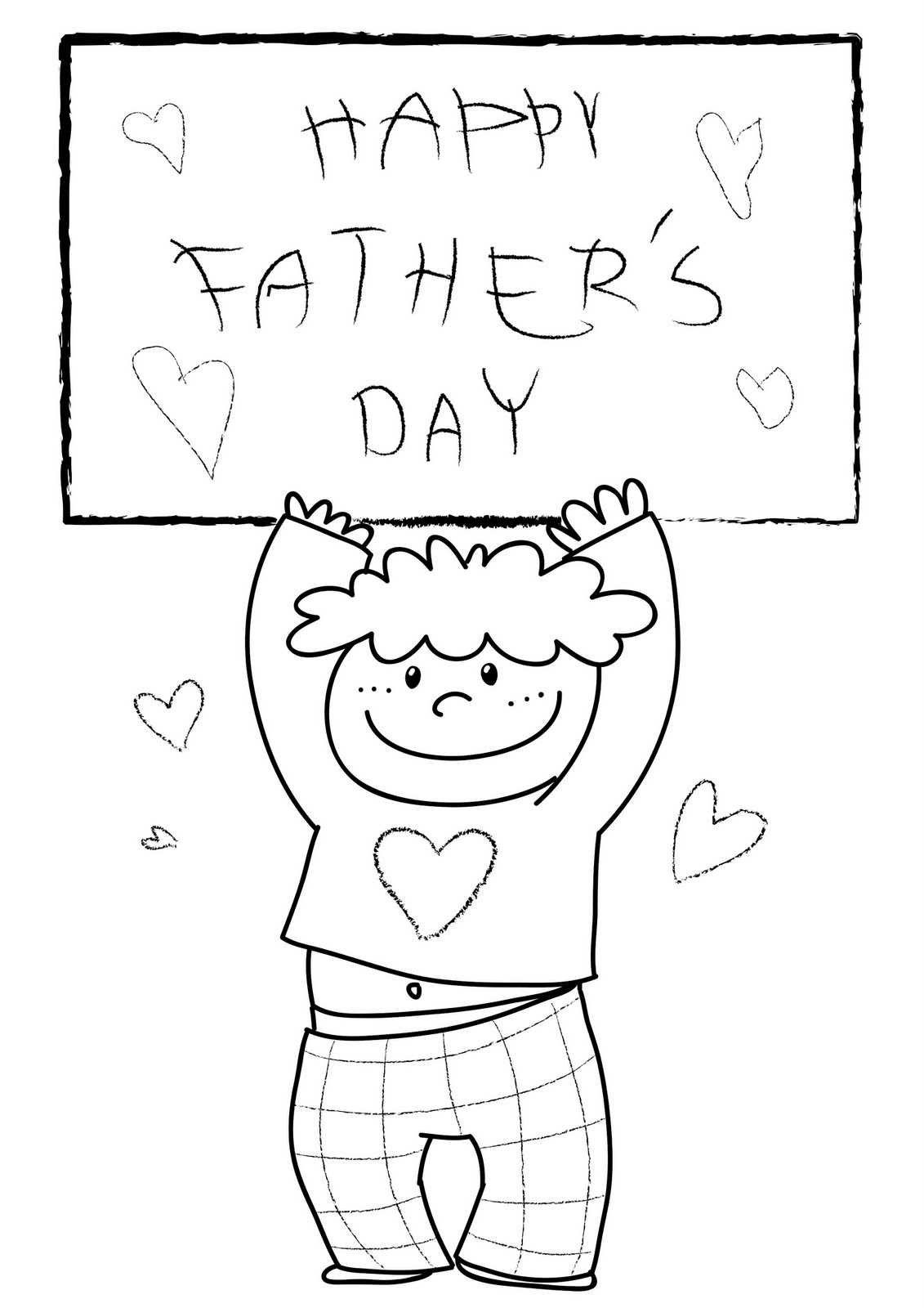 Father S Day Coloring Child Coloring
