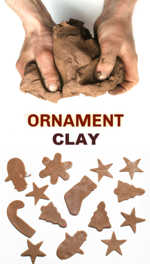 Make ornaments that smell just like Christmas using this easy recipe for gingerbread clay #gingerbreadrecipe #gingerbreadman #gingerbreadcrafts #gingerbreadclay #gingerbreadplaydough #gingerbreaddecorations #gingerbreadornaments #christmascrafts #ornamentsdiychristmas #growingajeweledrose #activitiesforkids