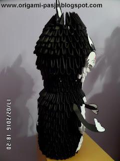 Kotecek z bajki - origami modułowe.