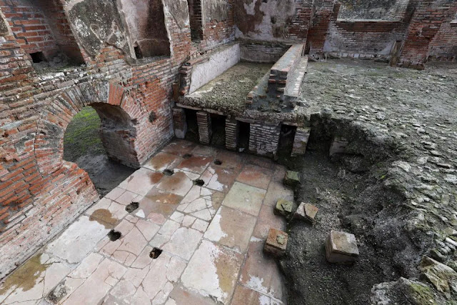 Magnificent thermal baths in Pompeii unveiled