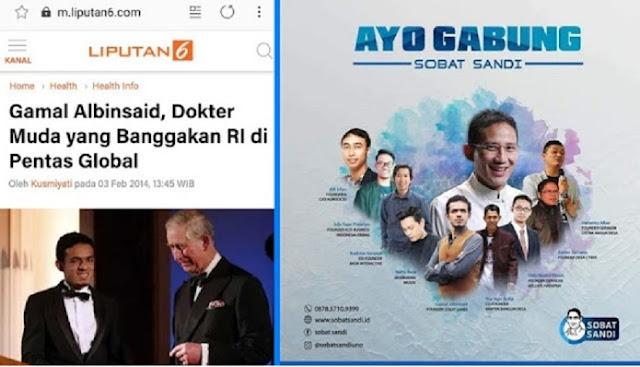 Siap Menangkan Prabowo-Sandi, Tokoh Milenial Gamal Albinsaid dkk Bentuk Sobat Sandi