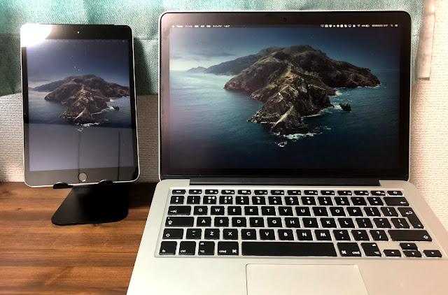 iPad mini3とMacbook ProをYam Displayで接続