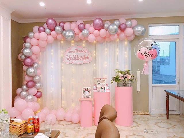 Trang trí sinh nhật bé Lê Bảo Anh tại Cầu Giấy