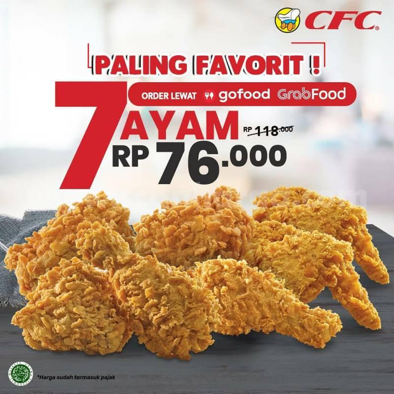CFC Promo 7 potong Ayam cuma Rp 76.000 via Gofood & Grabfood