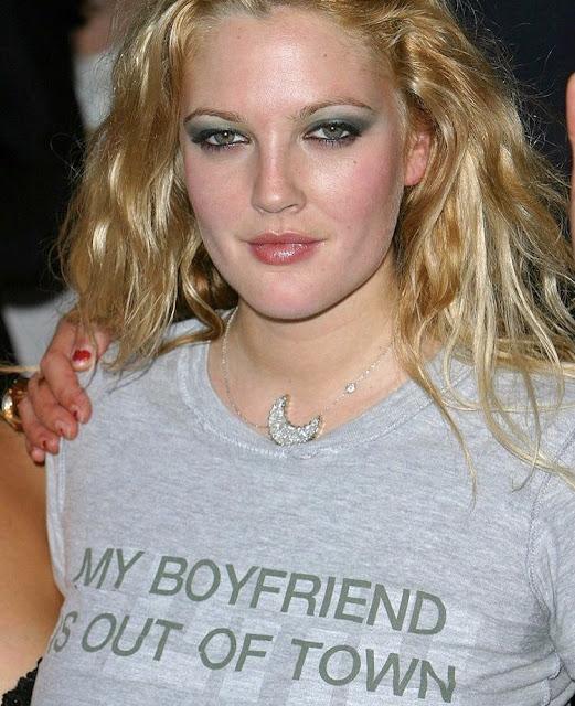 Drew Barrymore My Boyfriend Is Out Of Town T-shirt.  PYGear.com