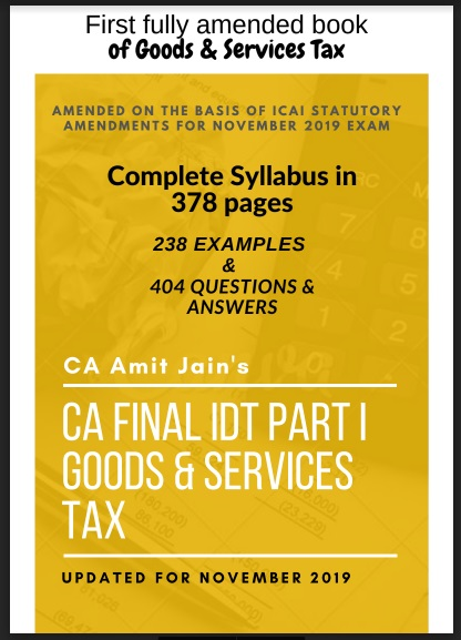 Download CA Final Paper 8 IDT Amendments by CA Amit Jain