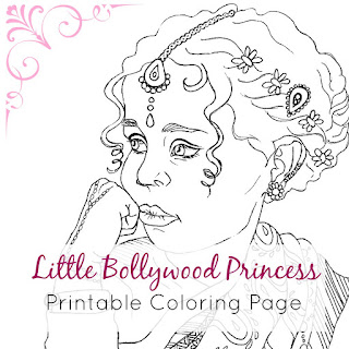 Indian Princess Printable Coloring Page