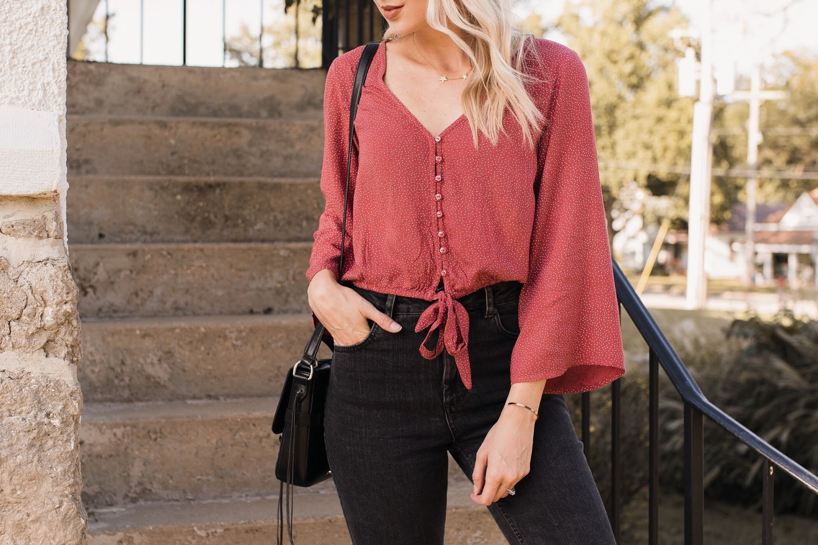 cute bell sleeve top