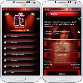 BBM MOD Red Angel versi Terbaru dan versi Lama APK