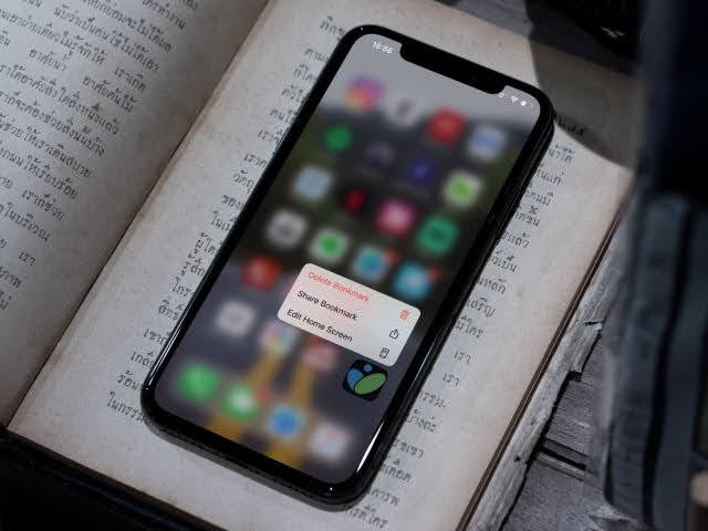 icon trên điện thoại giúp mở nhanh trang web