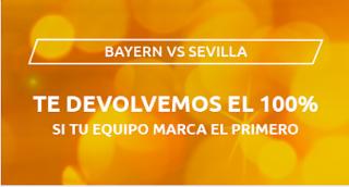 Mondobets devolucion Bayern vs Sevilla 24-9-2020