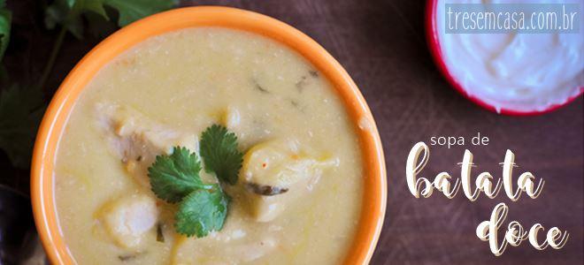 receita de sopa de batata doce