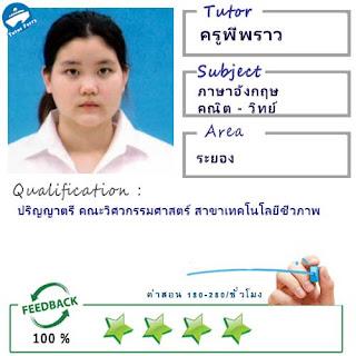 ครูพี่พราว (ID : 13831) สอนวิชาภาษาอังกฤษ ที่นครปฐม